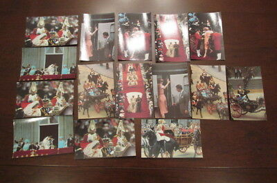 1981 POSTCARD PRINCE CHARLES & PRINCESS DIANA CEREMONY Set Lot of 15 cards