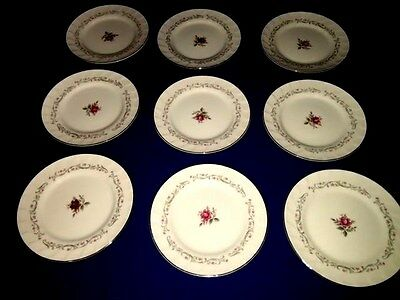 """9 Vintage Fine China of Japan """"ROYAL SWIRL"""" 6 1/4"""" Bread Plates ~ Excellent"""