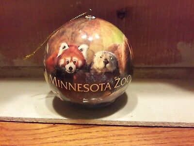 Minnesota Zoo Tiger Bear Monkey wolf birds Souvenir Round ornament