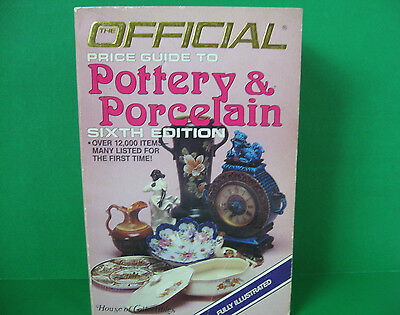 Official Price Guide to Pottery & Porcelain Sixth Edition 1986 Softcover
