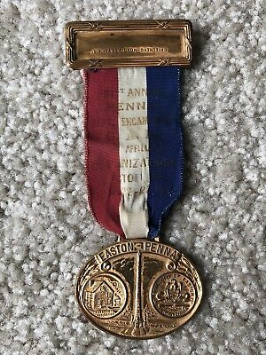 Civil War Veterans GAR Reunion 1947 Easton, PA Annual Encampment Medal Badge