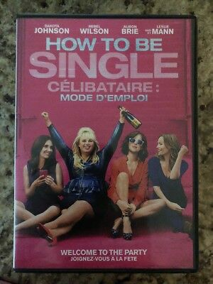How to Be Single (DVD, 2016, Canadian Bilingual) Free Shipping in Canada!