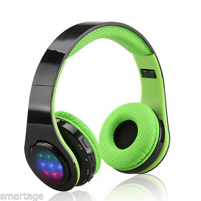 Universal Over-ear Wireless Bluetooth LED Stereo Headphones Headset Earphone NEW