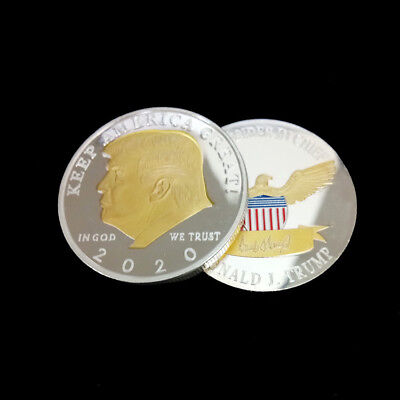 Hot Silver&Gold US President Donald Trump 2020 KEEP AMERICA GREAT Two Tone Coin