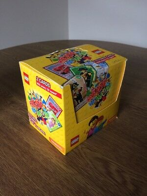 Box of Sealed Sainsbury's Lego Cards (2 Cards Per Pack, 107 Packets In Box)