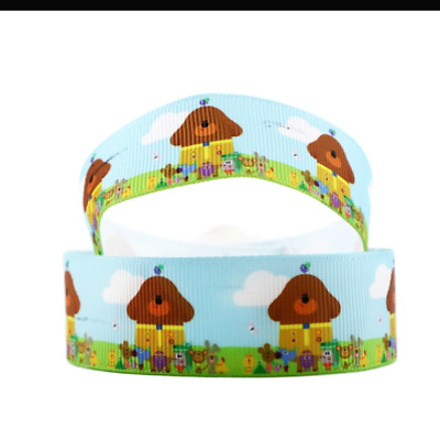 "Hey Duggee Ribbon 1m long 1"" wide"