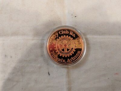 Arizona Diamonbacks Rotary Club #100 1998 Commemorative Coin, Sealed in Case
