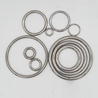 304 Stainless Steel Seamless Metal O Ring Welded Round 20 30 40 50 60 80 100mm