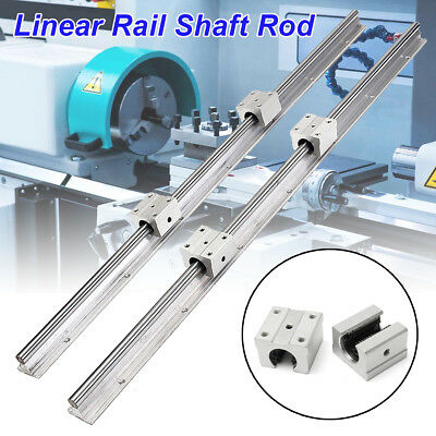 2PCS SBR12-700mm 12MM Linear Bearing Rail Slide Guide Shaft + 4X SBR12UU