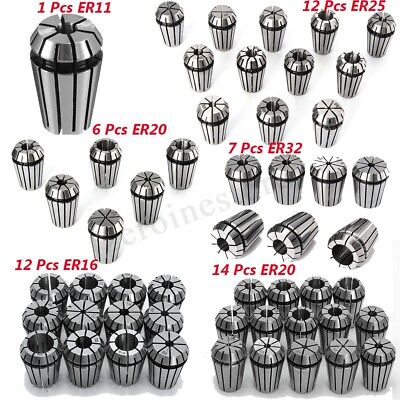 ER11 ER16 ER20 ER25  ER32 Spring Collet Sets For CNC Milling Machine Lathe