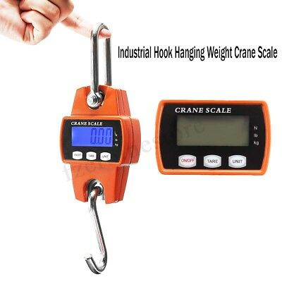 Mini Crane Scale 300KG/660LBS Industrial Hook Hanging Weight Digital LCD
