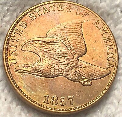1857 Flying Eagle Cent High Uncirculated Date Penny Collectible Coin no REserve