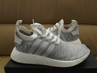 daba4f49956ee Adidas NMD R2 PK Primeknit Men s Boost Fashion Sneakers White Gray BY9410  (NEW)