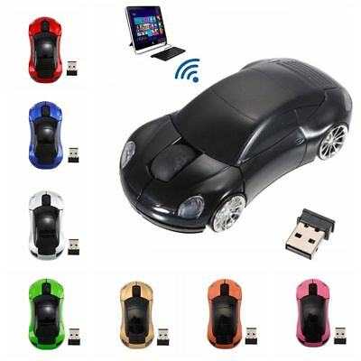 USB Receiver Racing Car Shaped Wireless Mouse Gaming Mice For PC Laptop Macbook