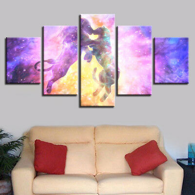 Abstract Lion Couple Lover Dream Kissed 5 Panel Canvas Print Wall Art Home Decor
