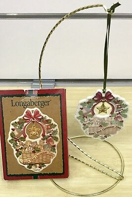 Longaberger Baby's First Christmas Basket Ornament 2001