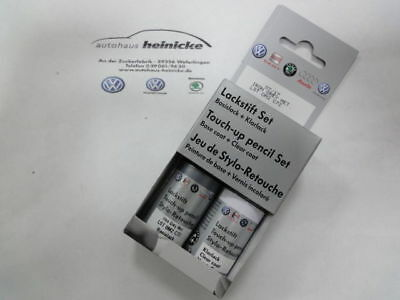 neu Original Volkswagen Audi Lackstift-Set L041 schwarz 041