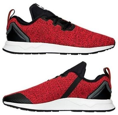 216f2159a ADIDAS ZX FLUX Multicolor Prism Footwear White Core Black Red Size ...