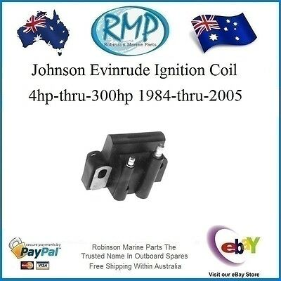 1 x Ignition Coil Johnson Evinrude 4hp-thru-300hp 1984-thru-2005 # 582508