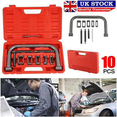 10Pcs Car Motorcycle Valve Spring Clamps Compressor Repair Tool Bit Set with Box