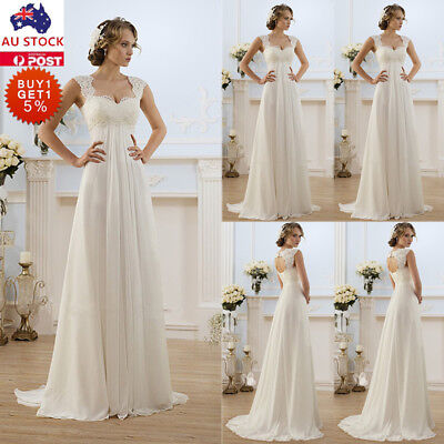 Womens Lace Maxi Dress Ladies Wedding Bridesmaid Cocktail Evening Party Gown