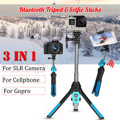 360° bluetooth Palo Selfie Control Remoto Trípode Extensible Para GoPro iPhone