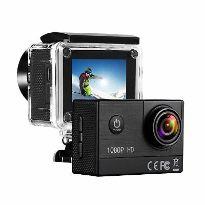 1080P HD Sports Camera Action DV Camcorder Waterproof 16MP + Bag Transport UK