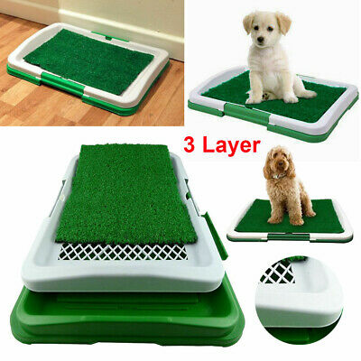 Pet Dog Toilet Mat Indoor Restroom Training Grass Potty Pad Loo Tray Puppy Large