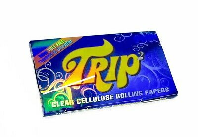 Trip2 1 1/4 Clear Rolling Smoking Tobacco Papers - 50 Leaves Per Booklet