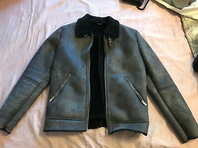 4fbd7341 Brand New ZARA Men's Faux Shearling Jacket size XL EU 42 Retails SOLD OUT