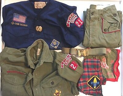 Vintage Boy Scout /Cub Scout Uniform- Shirts, Pants Colrain Mass