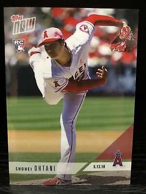 SHOHEI OHTANI RC 2018 Topps NOW #210 (English) SP Los Angeles Angels