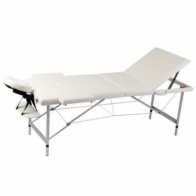 vidaXL Mobile Alu Massagetisch Massagebank Liege 3 Zonen Kosmetik Therapieliege
