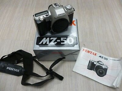 Pentax MZ-50 Camera Boxed With Cable Switch Accessories