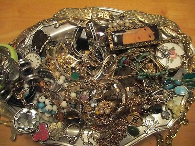 Vintage to Now JUNK DRAWER Jewelry watch Lot  Estate Find UNSEARCHED UNTESTED