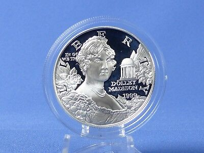 1 Dollar USA 1999 , Dolley Madison , Silber *PP/Proof* (19286)