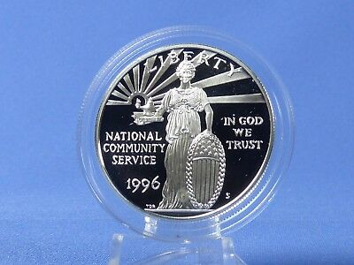 1 Dollar USA 1996,National Community Service , Silber *PP/Proof* (19289)