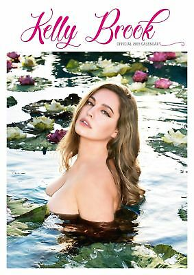 Official 2019 Kelly Brook Calendar A3 Glamour Model Gift Present Wall Hanging