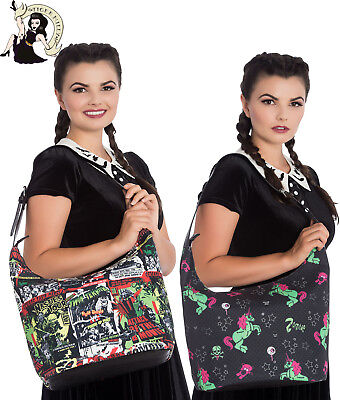 HELL BUNNY ZOMBIE UNICORN B-MOVIE alternative handbag BOHO tote BAG HANDBAG