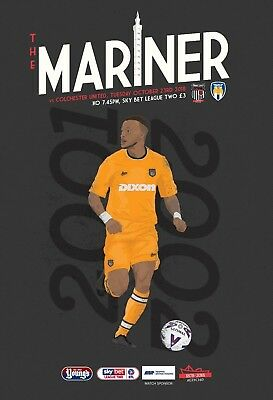 Grimsby Town Football Club - 18/19 Programme - Colchester United - 23/10/18