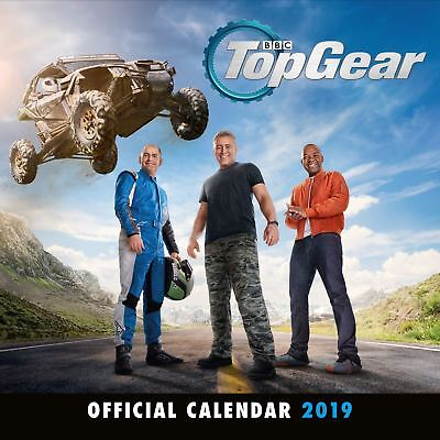Official 2019 Top Gear Calendar Square Wall Hanging Gift Birthday Present