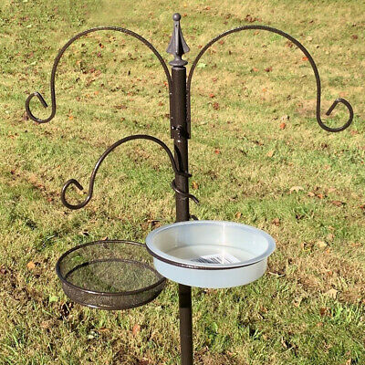 Metal Bird Feeding Station Stand Garden Wild Birds Feeders