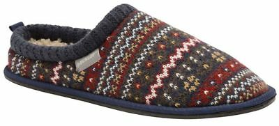 Dunlop Mens Slippers Memory Foam Winter Warm Fur Cosy Indoor Slip On Shoes Size