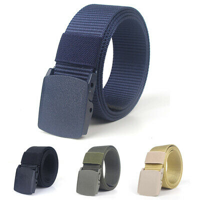 Men's Casual Canvas Web Belt Outdoor Sports Military Tactical Nylon Waistband