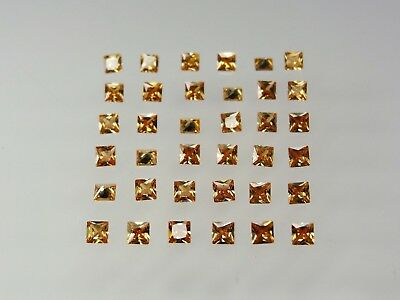 Champagne Square Princess Cut Stones SIZE CHOICE Cubic Zirconia Loose Gemstones