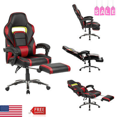 Executive High Back Leather Swivel Office Computer Chair Seat Ergonomic Footrest