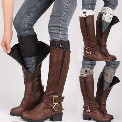 Women's fashion Knitted Leg Warmers Boot Cover Cuff Topper Soft Socks Winter US