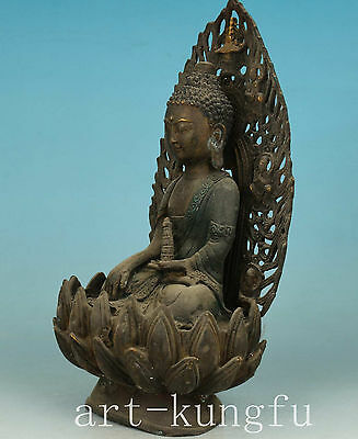 Only One Old Rare Tibet Carving Buddha Bronze Sakyamuni Statue Feng Shui deco