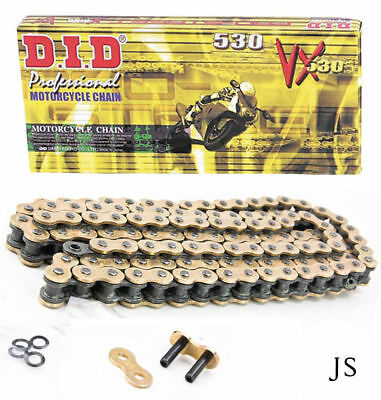 Yamaha FZS600 SP Fazer 5DM 00-01 DID VX Gold Heavy Duty X-Ring Chain