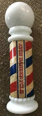 Vintage Avon Barber Pole Decanter - Mostly Full Protein Hair & Scalp Conditoner